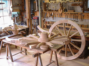 Alain Montpied - Artisan Wheelwright - Field artillery carriage