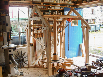 Alain Montpied - Artisan Wheelwright - Horizontal mill whee